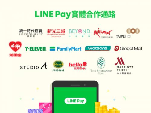 LINE Pay 用戶突破200萬 新增屈臣氏 萊爾富與飯店實體版圖!