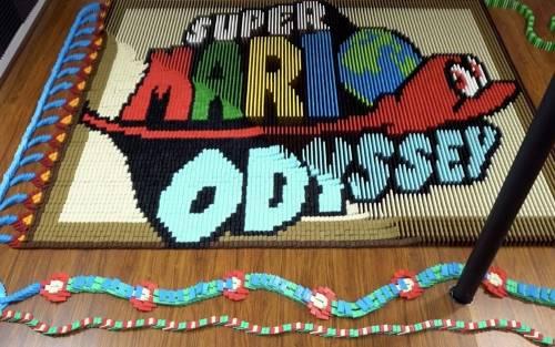 花式骨牌《超級瑪利歐 奧德賽》 跟遊戲一樣讓人歎為觀止!