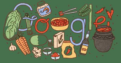 [Google Doodle] 韓式泡菜 11月22日是韓國泡菜日 為餐桌增色 度過冬天就靠它