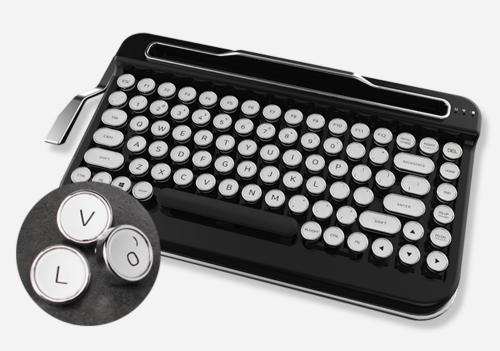 PENNA復古風藍牙 機械鍵盤 讓你體驗打字機打字快感