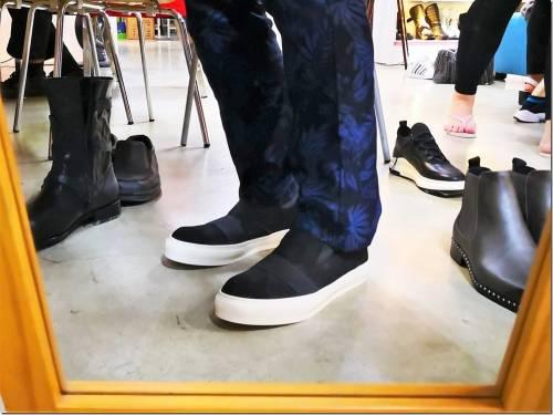 我的新鞋 AMANSHOES 仿舊厚底親膚彈力休閒鞋