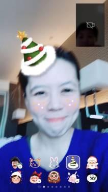 聖誕節快樂!LINE 推出三款聖誕造型視訊特效