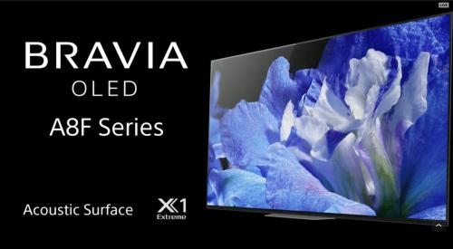 Sony 第二款OLED電視A8F CES 2018正式發表
