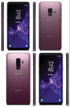 三星 Galaxy S9 與S9+渲染圖再度曝光 丁香紫新色亮相