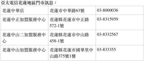 花蓮地震人道關懷!亞太電信提供充電 救災機 受災戶免1個月租