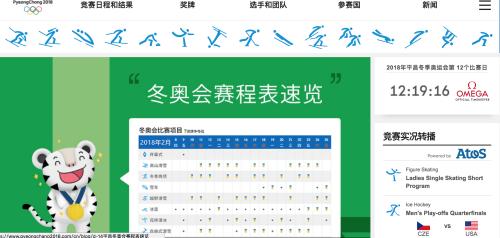 2018 冬季奧運在平昌 賽程表 奪牌戰績看這裡