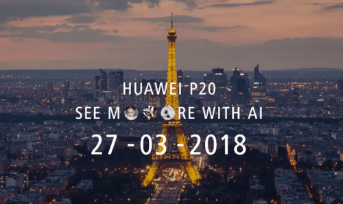 HUAWEI P20 官方宣傳圖曝光 揭露三鏡頭相機與異形全螢幕