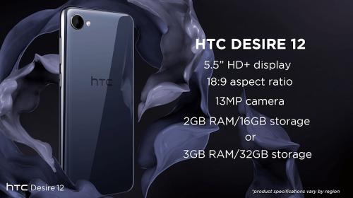 雙鏡頭正式回歸 HTC Desire 12 12+連袂發表