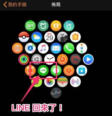 重返 Apple Watch iOS 版 LINE 8.4 版本更新推出