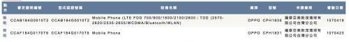 OPPO R15 系列通過 NCC 5月初確定登台!