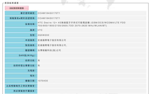 HTC Desire 12+ 通過NCC認證 即將在台上市