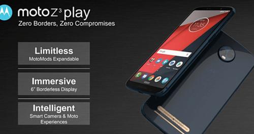18:9全螢幕模組化手機 Moto Z3 Play 預計六月初發表