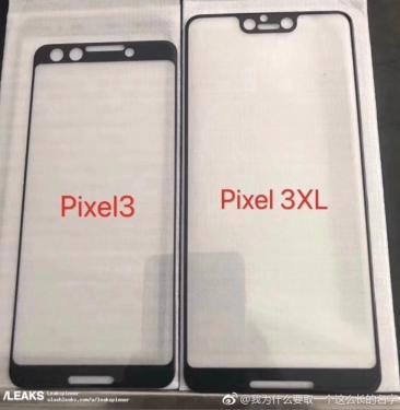Google Pixel 3 與 Pixel 3XL 保護貼曝光 將配備瀏海螢幕與雙自拍鏡頭?