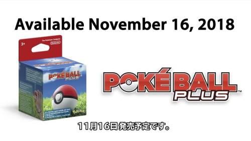 Pokemon Let's Go 特典版 - Poke Ball Plus 精靈球和夢幻 11月同步開賣