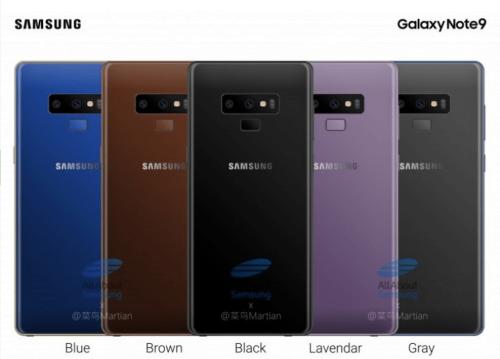 Galaxy Note 9 背蓋渲染圖曝光 傳將推出新顏色?