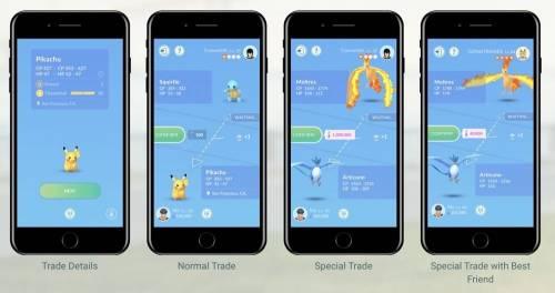Pokemon GO 新功能 可以和好友一起交換寶可夢!