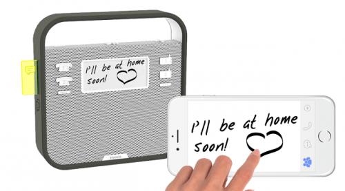 智慧型冰箱貼讓你以後留言不用再找便條紙 用手機就好