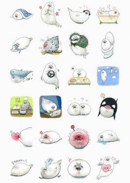 [更新] 2015年 LINE 免費貼圖系列限時下載第四波!海豹糯糯爆可愛!