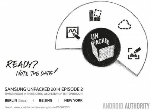 Samsung Galaxy Note 4邀請函釋出 9月3日柏林等三地發表