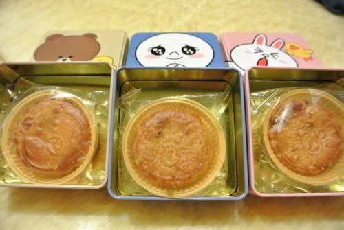 LINE熊大 兔兔和饅頭人月餅 祝大家中秋佳節愉快!