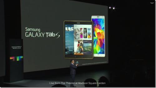 Samsung Galaxy Tab S 使用AMOLED顯示器 更加出色
