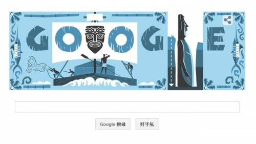 [Google Doodle] Thor Heyerdahl 挪威探險家托爾·海爾達爾 100 歲誕辰