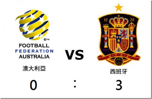 2014 世界盃足球賽 澳洲 對 西班牙 賽事結果 G35