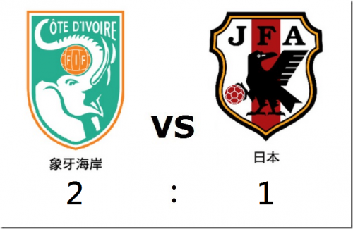 2014 世界盃足球賽 象牙海岸 對 日本 賽事結果 G06