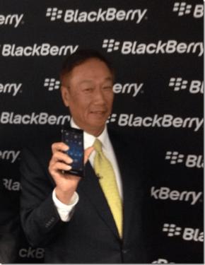 BlackBerry 黑莓 Z3 Q20 MWC 2014發表 郭台銘現身站台