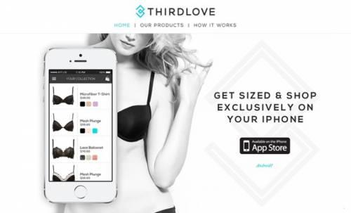 iPhone變皮尺?ThirdLove用圖像辨識讓女性找到服貼且舒適的內衣!