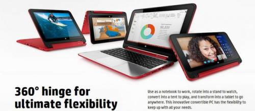 HP 發表 Pavilion x360 變形筆電 螢幕可 360 度旋轉
