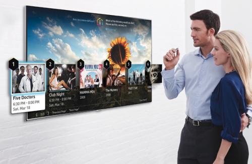 手指手勢操控 2014 Samsung Smart TV全面升級