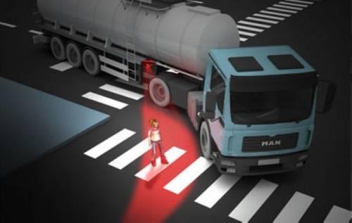 Red Hazard 後輪差指示燈 大型車輛必裝
