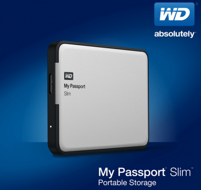 My Passport Slim首款2 TB容量超薄硬碟 金屬外殼 內建硬體加密功能