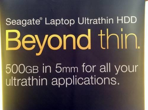 Computex 2013 大驚豔 Seagate 推出超薄厚度 5mm 硬碟