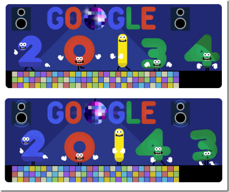 [Google Doodle] 2014 新年快樂 Google 趣味塗鴉連載接力
