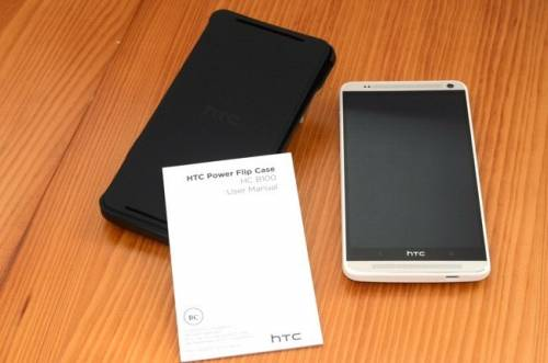 HTC One Max專屬原廠電池保護套 翻轉站立加強電力