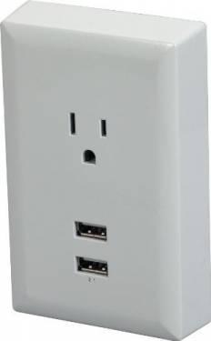 把USB充電座安在牆上 超實用好物