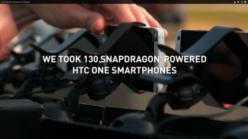 使用130支New HTC One 打造立體攝影棚