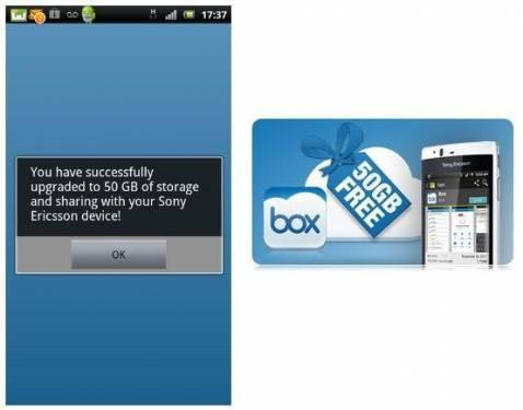 Xperia Box合作結盟 送50G雲端空間