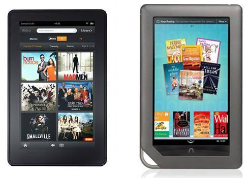 兩大電子書對決 Nook Tablet決戰Kindle Fire