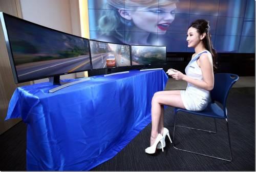 三星推出五款曲面顯示器 完美弧度貼合眼球打造如臨其境的環視震撼