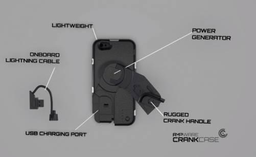用手搖一搖就能充電?CrankCase 手搖充電手機殼