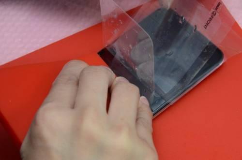 圓弧機背也要做保護 hTC Butterfly蝴蝶機全機包膜紀錄