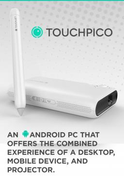 TouchPico 整面牆壁都是我的觸控螢幕