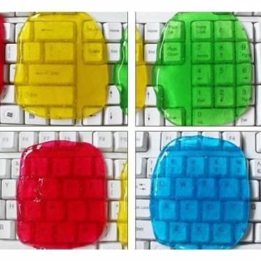 Cleaning Slime 用彩色果凍清理電腦鍵盤?