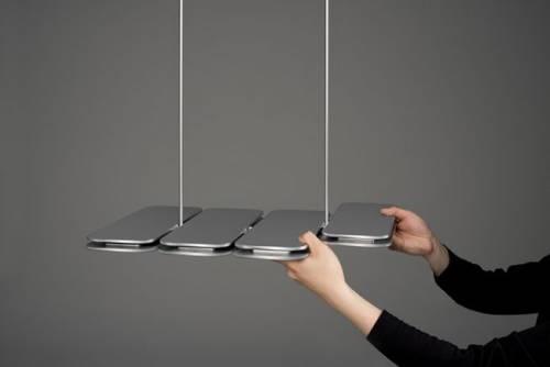 一碰就亮 P.Lamp 模塊化的吊燈