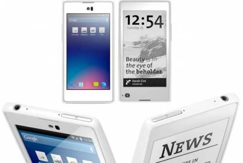 手機雙螢幕 E-Ink電子紙讓Yota更省電