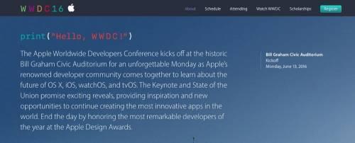 APPLE確定 2016WWDC於6月13日舊金山舉行