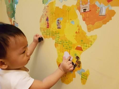 [育兒好物] 法國Janod磁鐵壁貼-環遊世界 與寶寶邊玩邊暢遊世界
